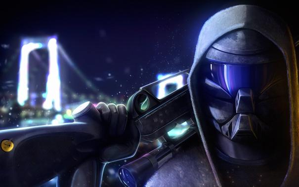 Фото обои оружие, фантастика, арт, винтовка, Снайпер