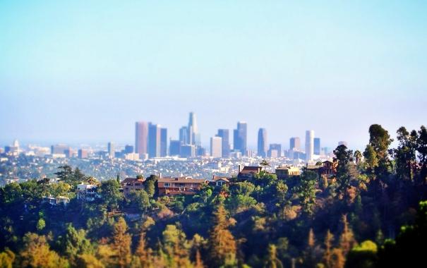 Фото обои Город, Калифорния, City, USA, США, Америка, Лос-Анджелес