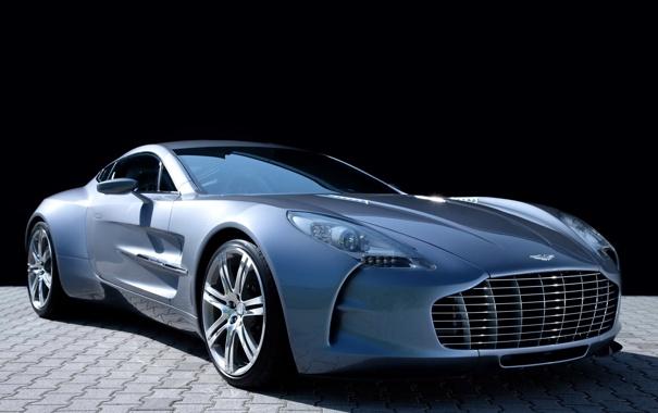 Фото обои One-77, передок, фары, астон мартин, Aston Martin