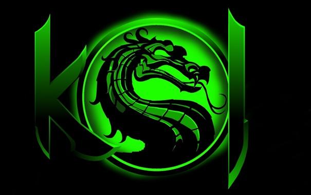 Фото обои зеленый, цвет, арт, Mortal Kombat, Dragon Logo