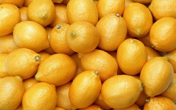 Фото обои yellow, lemons, fruit