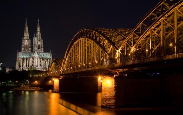 Фото обои мост, собор, католический