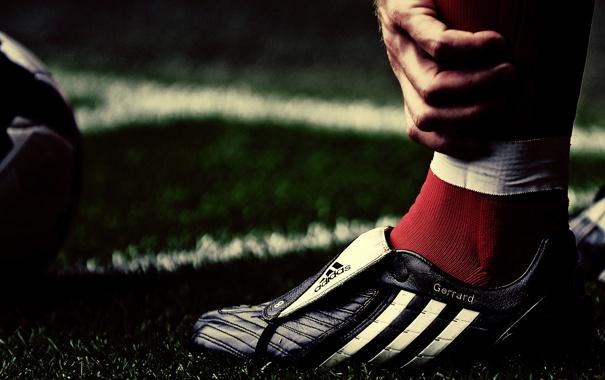 Фото обои футбол, нога, бутсы