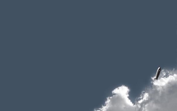Фото обои облака, полет, дирижабль