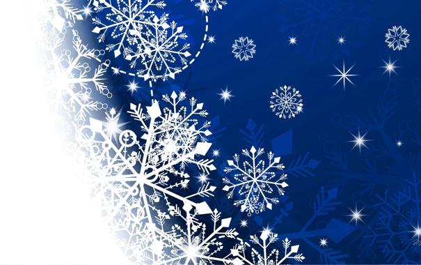 Фото обои зима, снежинки, праздник, вектор