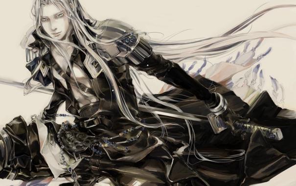 Фото обои оружие, аниме, sephiroth, финал фентези