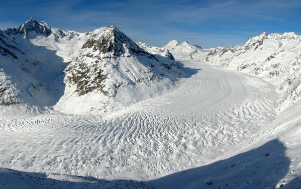 Фото обои горы, снег, Природа