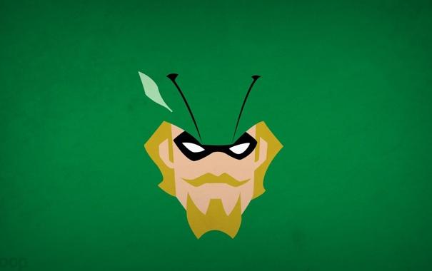 Фото обои минимализм, Green Arrow, blo0p, Justice League