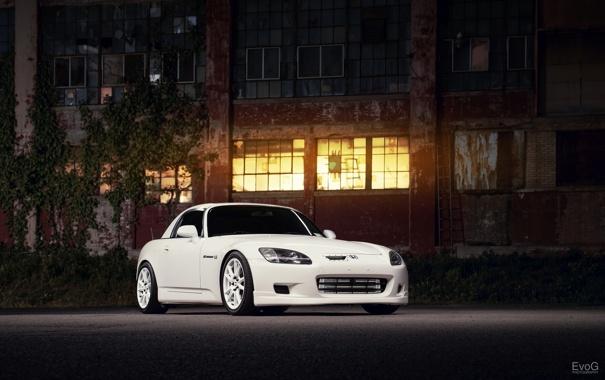 Фото обои car, ночь, тюнинг, хонда, авто обои, honda s2000