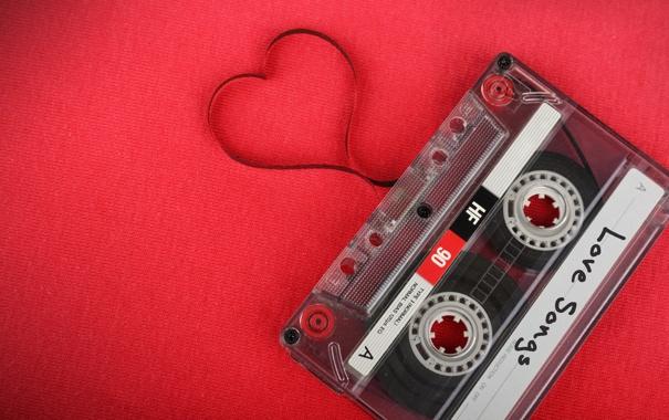 Фото обои любовь, сердце, love, heart, кассета, romantic