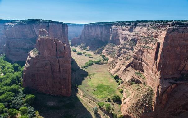 Фото обои небо, горы, каньон, ущелье