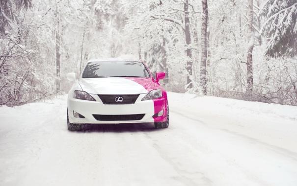 Фото обои зима, снег, lexus is250