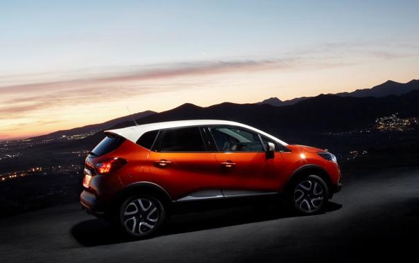 Фото обои car, машина, небо, Renault, sky, Captur