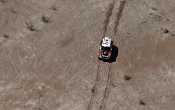 Фото обои Красный, Дорога, Mini Cooper, Rally, Dakar, MINI, Мини Купер