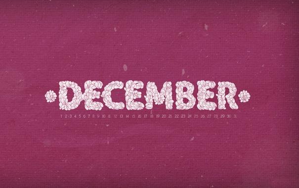 Фото обои december, календарь, декабрь, числа