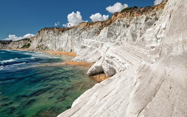 Фото обои море, природа, скалы, берег