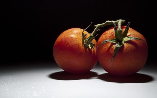 Фото обои макро, еда, помидоры