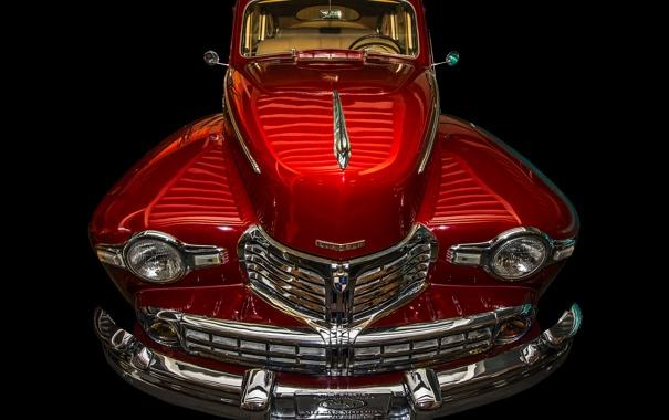 Фото обои Lincoln, ретро, решетка, автомобиль