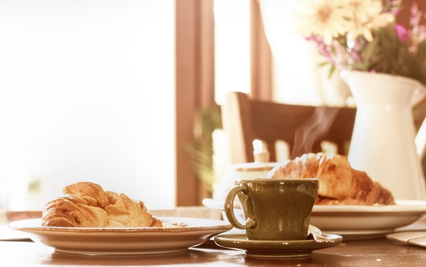 Фото обои breakfast, sunday, espresso, croissant