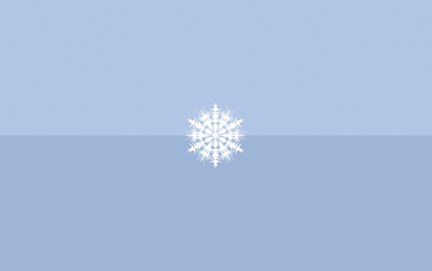 Фото обои зима, фон, снежинка