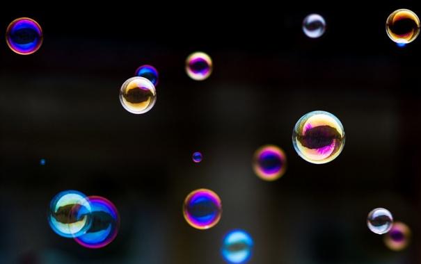 Фото обои настроение, цветные, мыльные пузыри