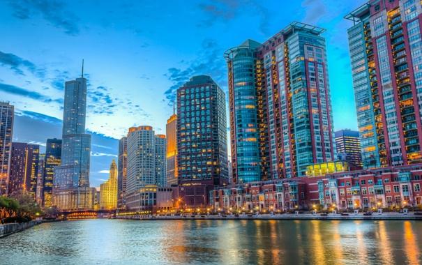 Фото обои illinois, USA, Chicago, небоскребы, чикаго