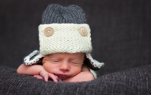 Фото обои сон, шляпа, младенец