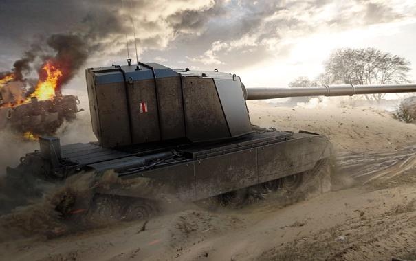 Фото обои WoT, World of Tanks, Мир Танков, Wargaming Net, FV4005 Stage II