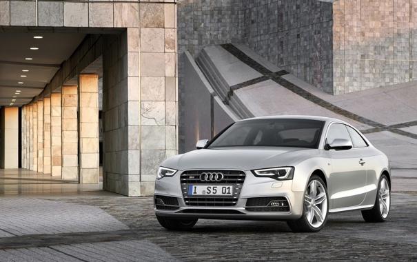 Фото обои Audi, ауди, здание, купе, автомобиль