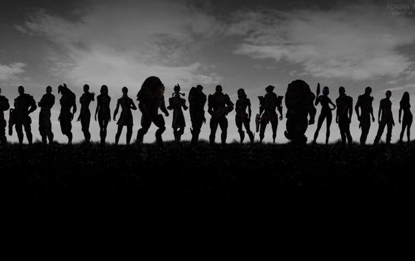 Фото обои army, mass effect, Shephard, шепард, персонажи, оружие