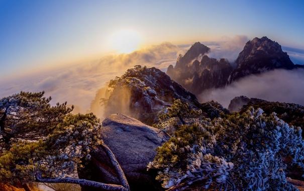 Фото обои небо, пейзаж, горы