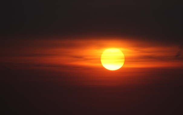 Фото обои небо, облака, закат, романтика, красота