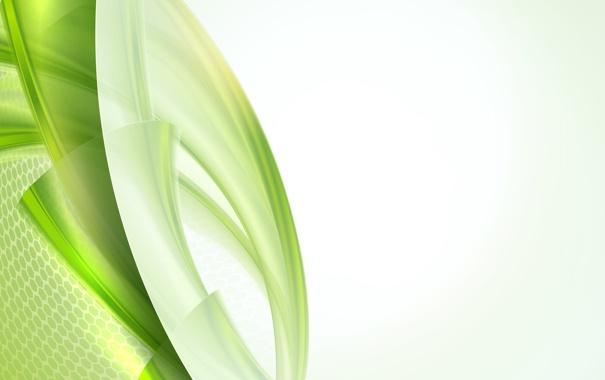 Фото обои линии, узор, зеленая абстракция
