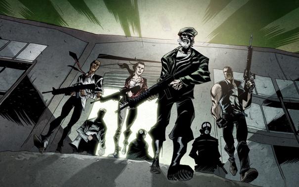 Фото обои игра, арт, зомби, герои, Left 4 Dead