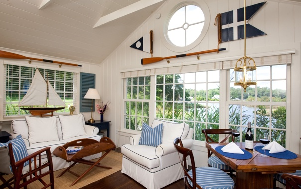 Фото обои дизайн, дом, стиль, вилла, интерьер, жилая комната, sailboat cottages at cabot cove