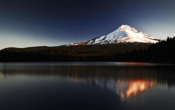 Фото обои вода, горы, отражение, гора