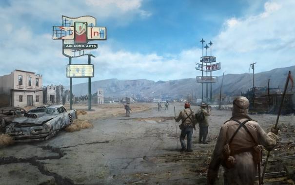 Фото обои игра, Fallout, пустошь