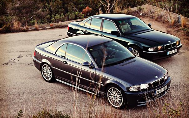 Фото обои BMW, бумер, E46, E38, Bimmer, 750il