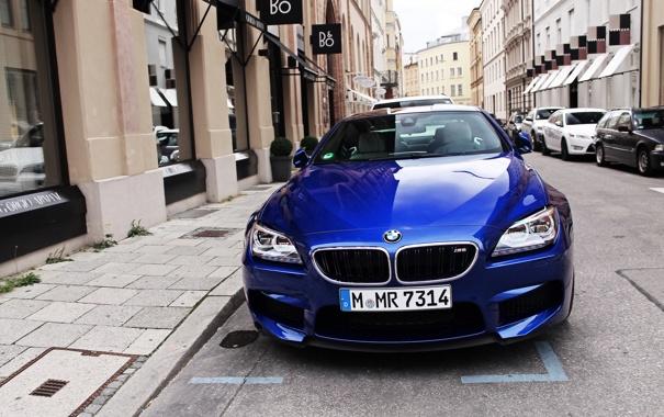 Фото обои синий, город, бмв, купе, BMW, turbo, спорткар