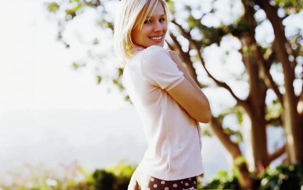 Фото обои лето, улыбка, блондинка