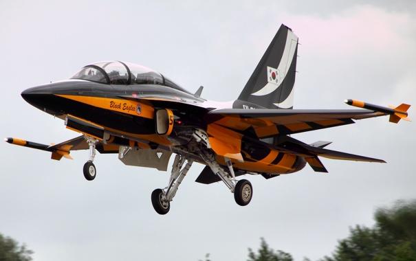 Фото обои самолёт, реактивный, Golden Eagle, двухместный, сверхзвуковой, учебно-боевой, T-50
