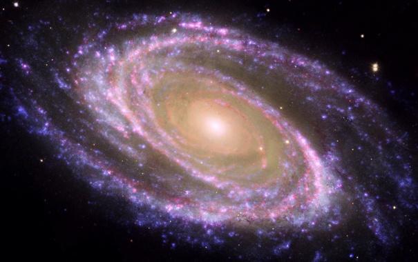 Фото обои галактика, спирали, разноцветная