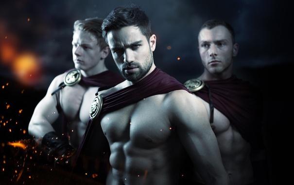 Фото обои модель, торс, парни, мужчины, 300 спартанцев