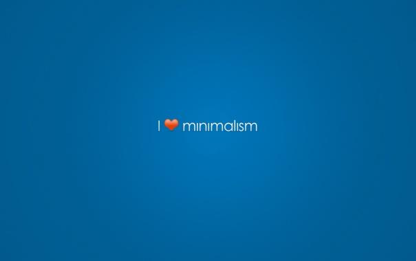 Фото обои минимализм, люблю