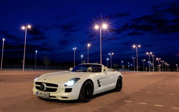 Фото обои mercedes, sls, amg, roadster