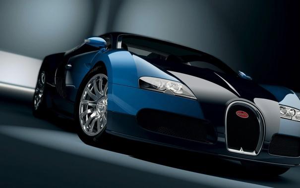 Фото обои Bugatti, перед, Veyron