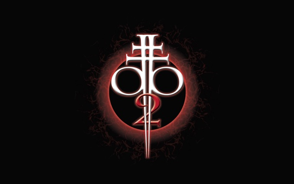 Фото обои черный фон, символ, игра, BloodRayne 2