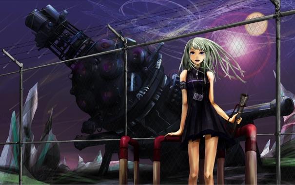 Фото обои ограждение, Girl, фонарик, девочка, установка, зона, загадочная