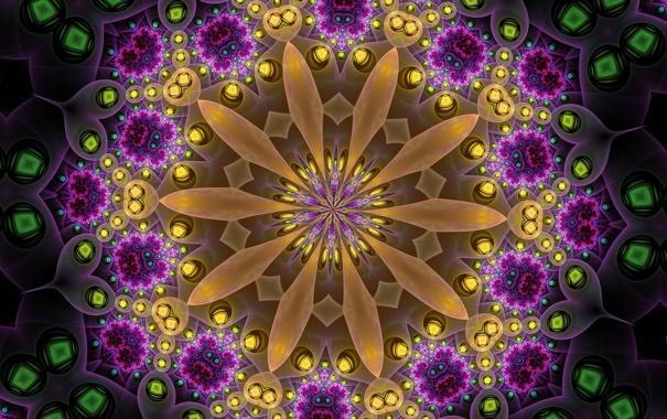 Фото обои цветок, узор, объем, симметрия