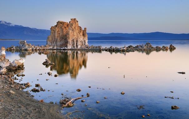 Фото обои природа, озеро, USA, California, Mono Lake, сказы